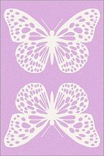 Ковер SOFT Butterfly rose Бабочки